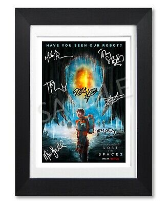 Lost In Space Cast Signed Netflix Tv Show Season Poster Photo Autograph Gift