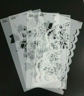 PLAID Simply Stencils Reusable Glass Etching Multiple Patterns Crafts Painting