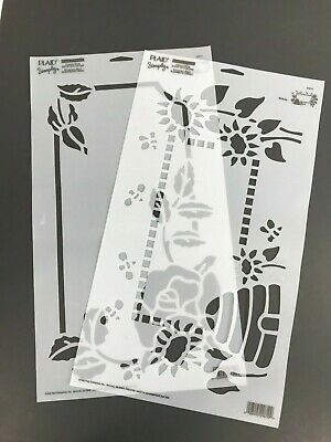 PLAID Simply Stencils Reusable Mailbox Stencils Two Patterns Crafts Painting