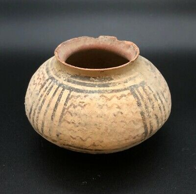 Ancient Artifact Indus Valley Pottery from Harappan Civilization Vase or Pot