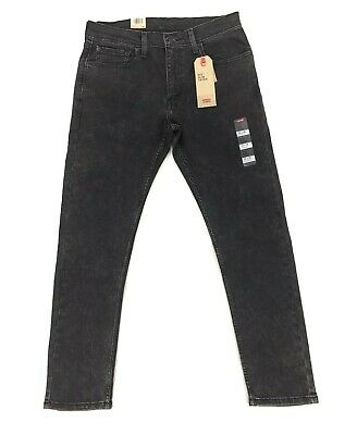 NEW Levi's Strauss 512 Slim Taper Black Huggy Mens Stretch Red Tab Denim Jeans
