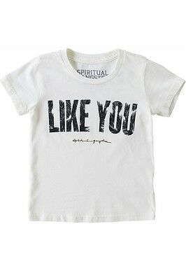 NEW Spiritual Gangster LIKE YOU Toddler Unisex T Shirt White Size 4T