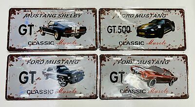 Ford Mustang - Tin Number Plate -- Shelby GT 500 -- Classic Muscle