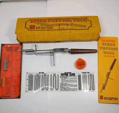 RC Rug Crafters Speed Tufting Tool In Box With Instructions & Tufting Gauge