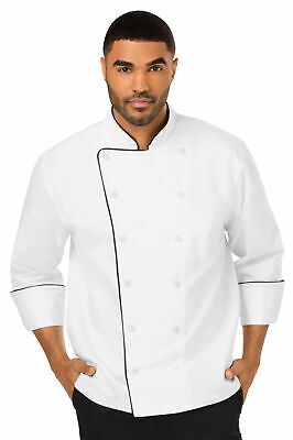 Dickies Chef Wear Unisex DC42B Executive Chef Coat/Piping