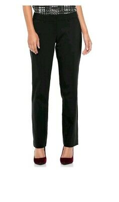 Nwt Womens Apt. 9 Torie Straight Leg Midrise Curvy Dress Pants Size 8