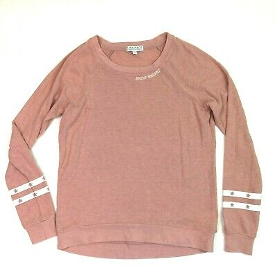 pj salvage shine bright crew neck long sleeve pullover top pink size xs