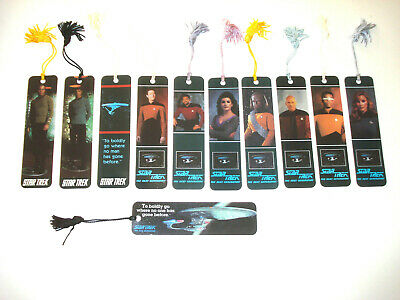 STAR TREK VINTAGE COLLECTIBLE BOOKMARKS EARLY 1990's WITH TASSLES FREE POST