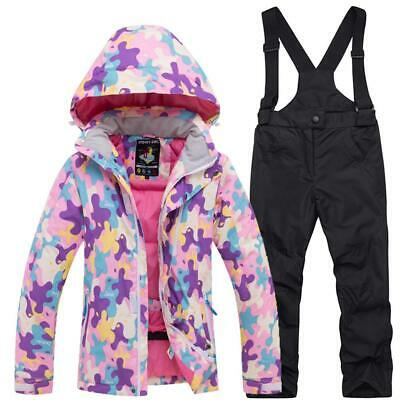 Girls Snowsuit Children For Boys Thermal Suit Ski Unisex Waterproof SPC0