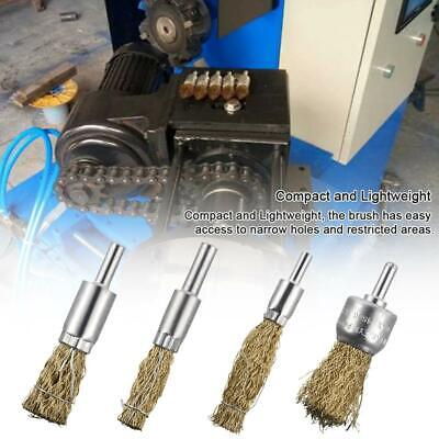 10PCS Brass Coated Wire Brush Wheel & Cup Brush Set with 6MM Shank Compact Light