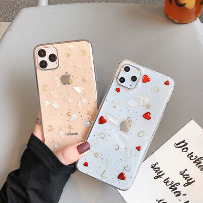 For iPhone 11 Pro MAX XS XR 8 7 Plus Shockproof Cute Heart Soft Clear Cover Case