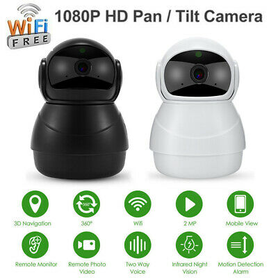 HD 1080P Wireless IP Camera WiFi Home CCTV Security System Network Night Vision
