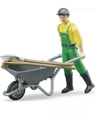 NEW Bruder 62130 Municipal Worker Figure With Tools