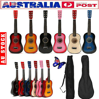 "23"" Kids Wooden Acoustic Guitar 6 Strings Musical Instrument Child Xmas Gift"