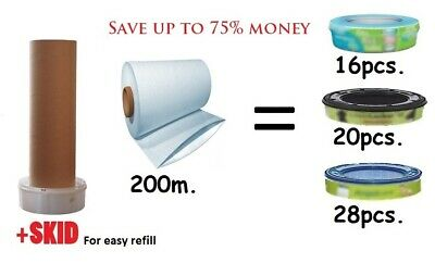 200m Refill Foil compatible with all nappy bins Simple Tec Twist & Click + SKID