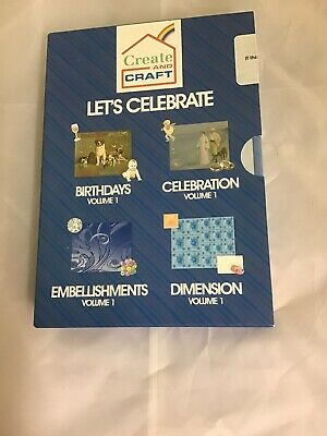 Create And Craft Lets Celebrate Pc Cd Set Of 4