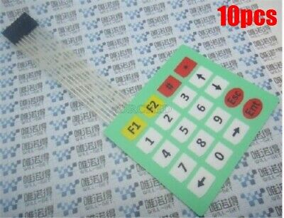 10Pcs 4X5 Matrix Array 20 Key Membrane Switch Keypad Keyboard 4*5 Keys nt
