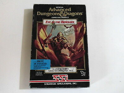 PC EYE OF THE BEHOLDER ADVANCED D&D SSI 1990 Role-Playing (RPG) MS DOS BIG BOX