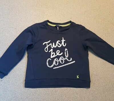 Joules Girls Navy Jumper Aged 3-4 Years Just Be Cool