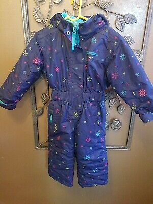 Girls Snowsuit All In One 1-2 Years Mountain Warehouse Blue