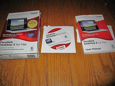 Parallels Desktop 5 for Mac in box includes Manual