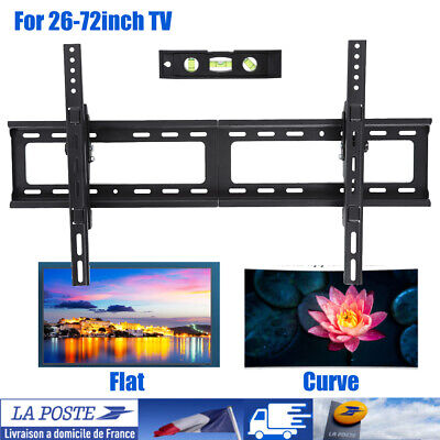 "Support TV mural inclinable ultra plat led lcd muraux pour écran 26"" à 75"""