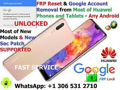 Fast Google Account Removal Frp Reset Huawei P30 P20 Mate Lite Pro 100% Success