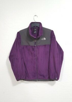 The North Face Purple/Grey Soft Fleece Sweater Size Girls Youth XL 18 (Womens M)