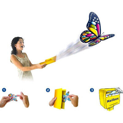Flying Butterfly Surprise Greeting Card Book Magic Props Toy Fly Wind Up Random