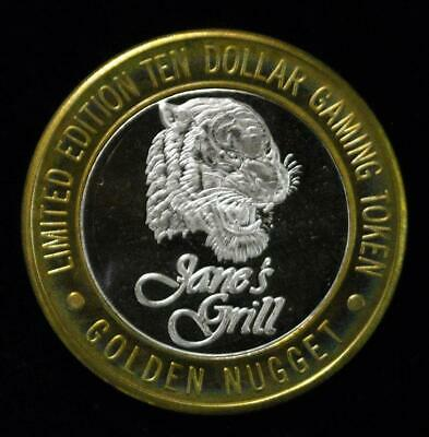 $10 Golden Nugget Jane's Grill, Laughlin Nevada .999 Silver Strike (S001)