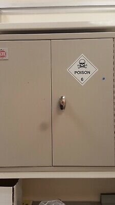 LTE Scientific Toxic / Chemcal Storage Cabinet Safety Locking Decontaminated