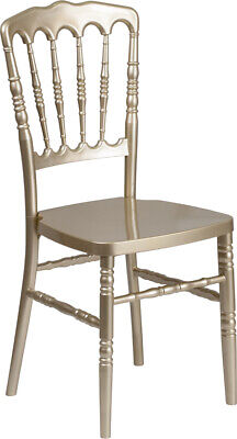 Gold Resin Stacking Napoleon Chair - Commercial Quality Banquet Wedding Chairs