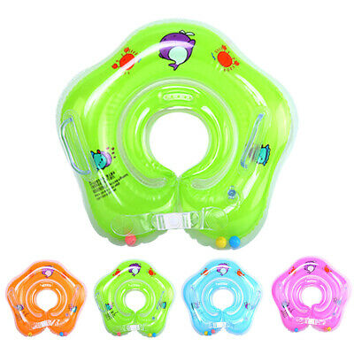 Baby Infant Swimming Water Pool Bath Shower Neck Floating Inflatable Ring Toy UK