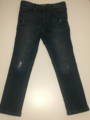 River Island Mini Boys Blue Denim Jeans Trousers Size 4-5 Years