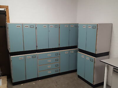 Lot of 8 Lab Laboratory Cupboards, 8x Cabinet Units