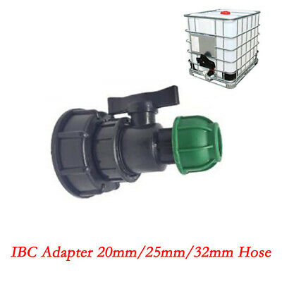 IBC Tank Adapter With Ball Valve S60X6 Coarse Threaded Cap 3/4 '' 1'' Connector