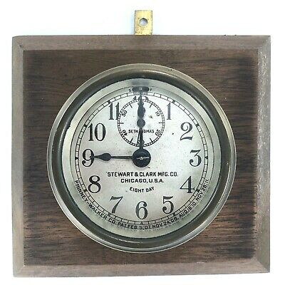 Seth Thomas Phinney-Walker Stewart & Clark Mfg Co Auto Car Brass Clock Antique