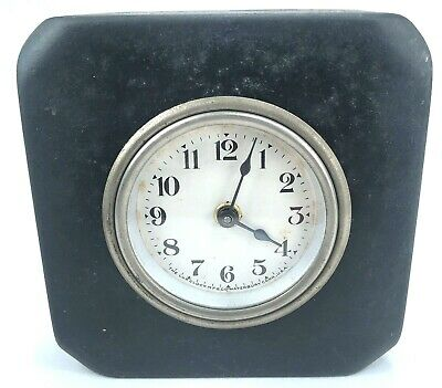 Lux Clock Mfg Co. Classic Mechanical Bank Actuating Clock Antique