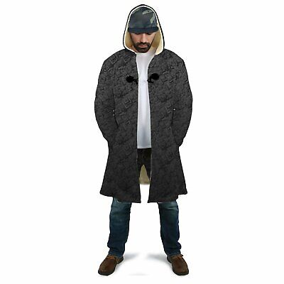 Blacked Out Squares Dream Sherpa Cloak