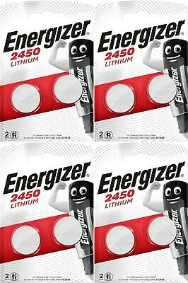 8 x Energizer CR2450 3V Lithium Coin Cell Battery 2450 DL2450