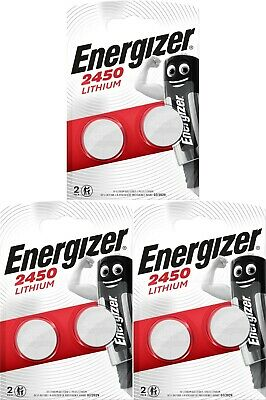 6 x Energizer CR2450 3V Lithium Coin Cell Battery 2450 DL2450