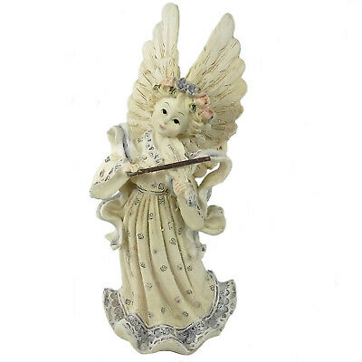 Angel Figurine Playing the Violin - Pastel Colours - Ornament