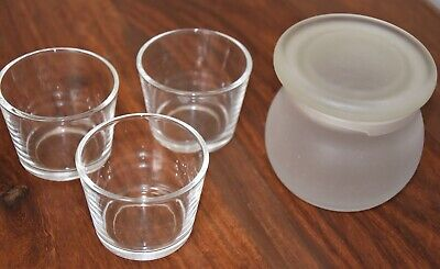 Glass Candle Jars x 4 - Suitable for Candle Making - EUC