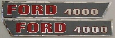 F503HA Ford / New Holland Tractor 4000 Hood Decal Set D-F4000A
