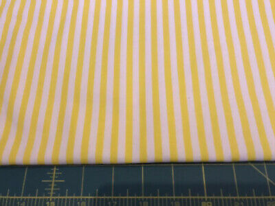 "Jack Stripe Cotton Deep Ochre Yellow y//White 140cm//54/"" wide Curtain Fabric"