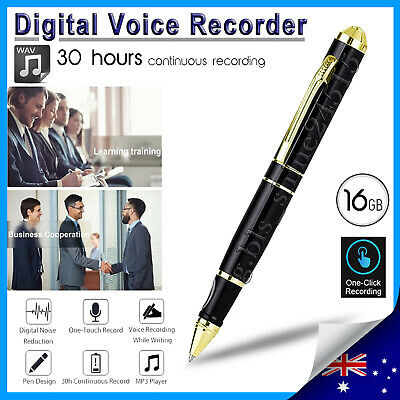 NEW 16GB Digital Voice Recorder Pen Audio Device Hidden Sound Stereo USB MP3