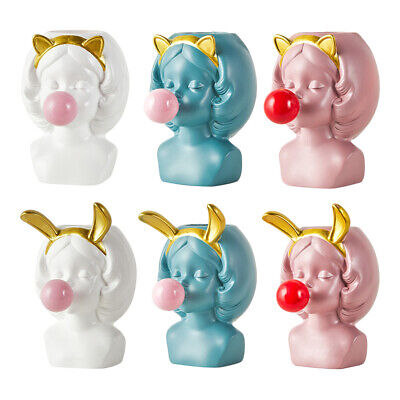 6x Lovely Girls Blow Bubbles Succulent Planter Pots For Indoor Outdoor Use