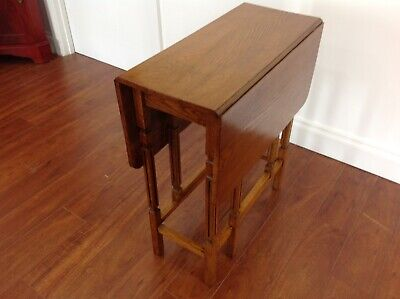 Antique Oak DropSide Gate Leg Table