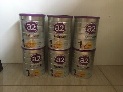 6 X Tins of A2 Platinum Stage 1 Baby Formula 900g