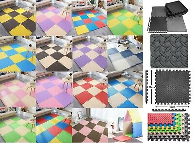 60cm Large MAT INTERLOCKING EVA FOAM MATS TILES GYM PLAY WORKSHOP FLOOR FITNESS